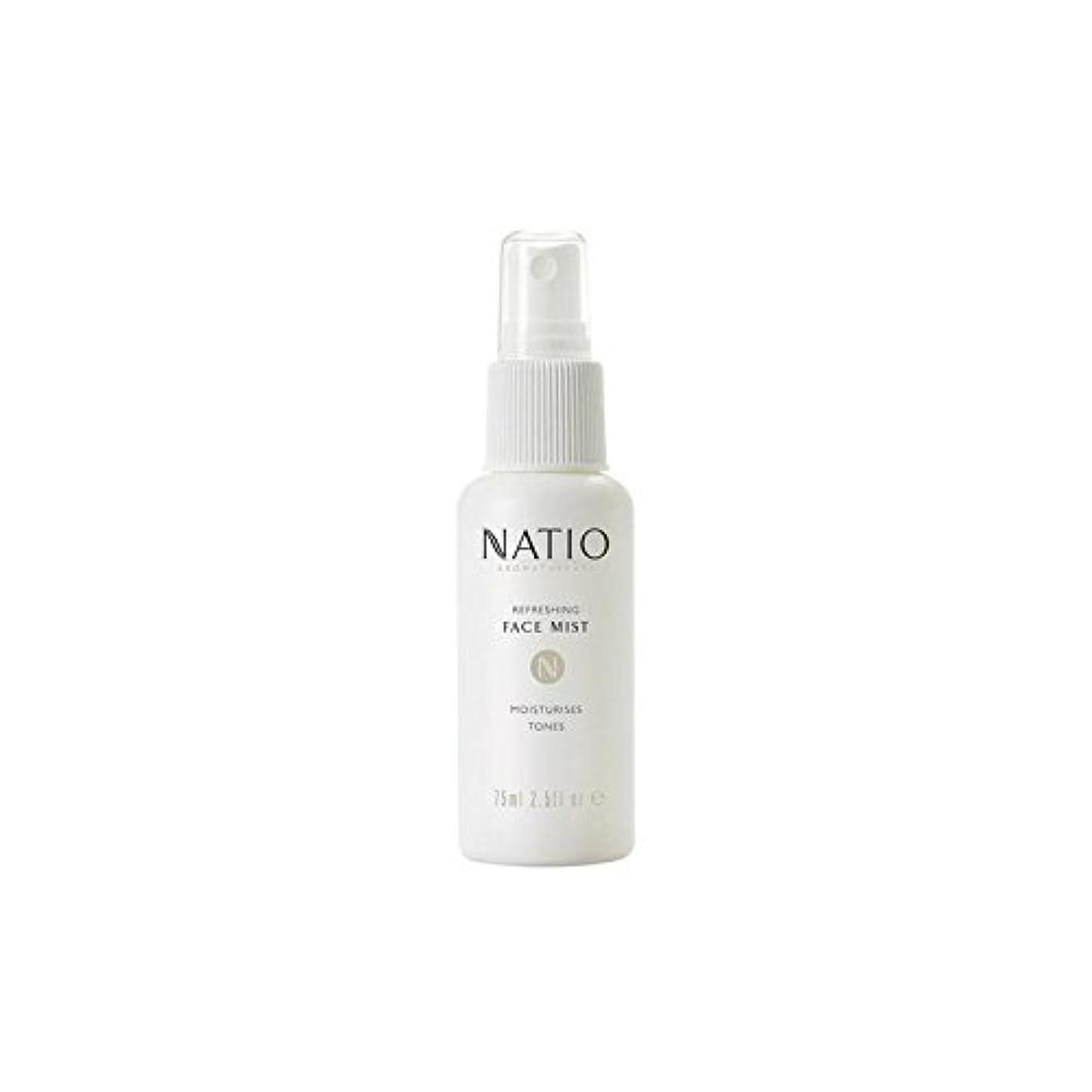 さわやかな顔ミスト(75ミリリットル) x4 - Natio Refreshing Face Mist (75ml) (Pack of 4) [並行輸入品]