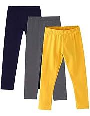 Amomí 3-Pack Leggings Mallas Pantalones Largos Ropa Deportiva Niña 3-10 Años, Pack de 3