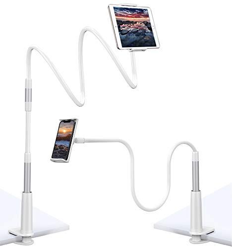 joylink Supporto per Cellulare, Collo di Cigno, Universale, per Smartphone, Cellulare, Tablet, Collo di Cigno, Flessibile, Braccio Lungo, Supporto per Tablet (A)