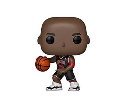 LUGJ Funko Pop NBA Star Kawaii Q Version Nendoroid Anime Figure Jordan Black Clothes Boxed Pop Vinyl Action Figures Toy 10Cm, Collezione di Decorazioni Giocattolo per Bambini