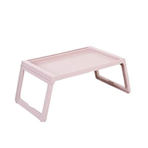 DierCosy Fällbart laptopskrivbord för säng, soffa, soffa notebook ställbar laptopbord säng skrivbord sängbehållare-läshållare rosa