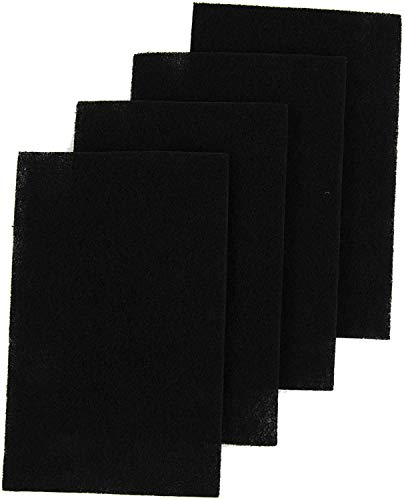 4 piece Active Carbon Filter Sheets Pre-Filter C Pads for Holmes Air Purifiers – Pre-Cut Exact Fit Charcoal Filter Sheets Compatible with HAPF600 Series HEPA Filters Fits Hapf600, HAPF600D-U3, HAPF600D-U2, HAPF600D-U1 Series Units