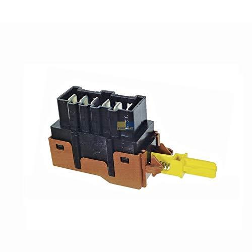 1x Interruttore a pulsante lavatrice asciugatrice 124927140 AEG Electrolux