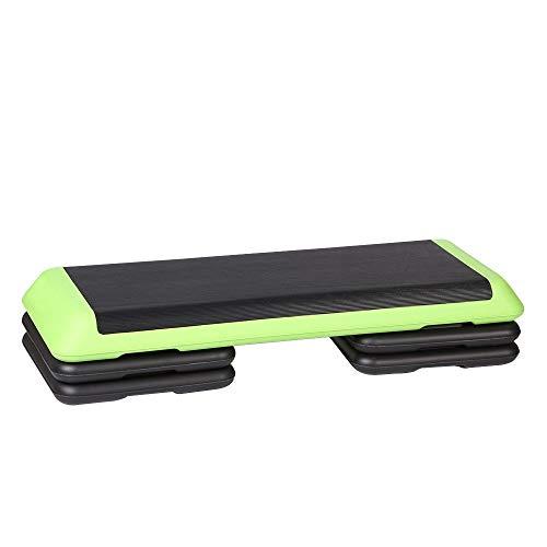 Yhjkvl Aerobic Stepper Fitness Steps 3 Level Aerobic Exercise Stepper Board Home Aerobic Sport Adjustable For Men And Women Workout Step Board (Color : Green, Size : 110cm)