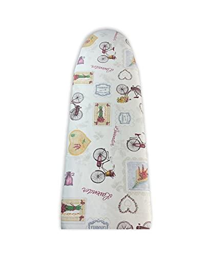 Acomoda Textil - Funda Tabla de Planchar 100% Algodón. Funda Acolchada de Fácil Ajuste con Hilo. Tamaño Universal. (Lavender)