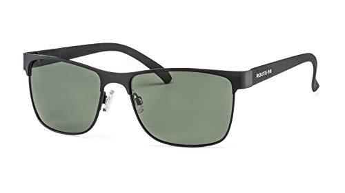 Polarisierte Sonnenbrille von Route 66 | Klassische Herren Sonnenbrille aus Metall mit Federbügelscharnier F2501067