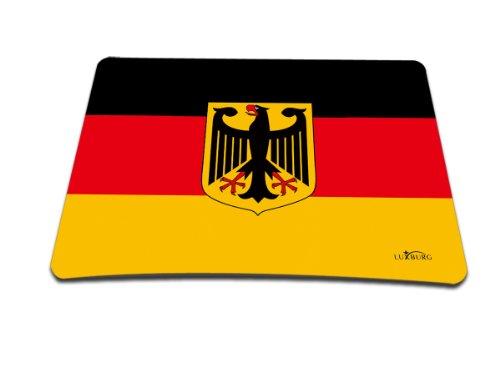 Luxburg® Design XL gaming muismat mousepad, motief: Duitse vlag