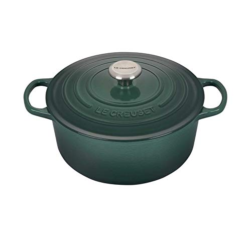 Le Creuset Signature Enameled Cast-Iron Round Dutch Oven, 5-1/2-Quart, Artichaut