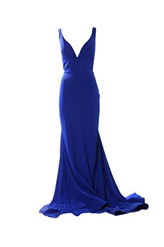Sherri Hill Langes Kleid, Column, Blau 36