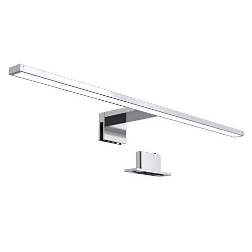 B.K.Licht LED Spiegellampe I 60 cm I 8 W I 4.000K neutralweißes Licht I 780 Lumen I IP44 I Schrankleuchte I Chrom
