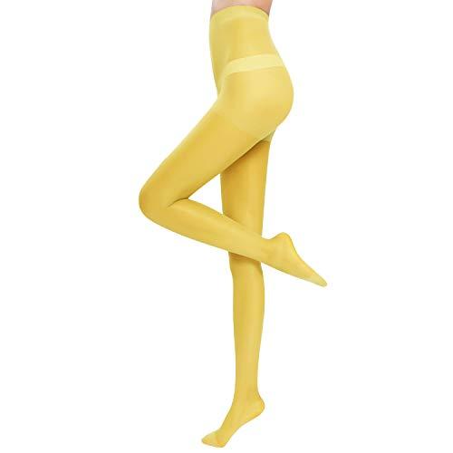 Medias amarillas para Mujer Microfibra