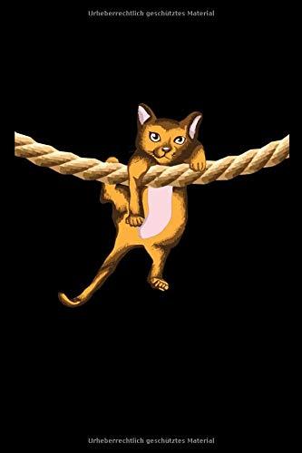 Katze: Katze I Seil I Kinder I Notizbuch I Heft I Tagebuch