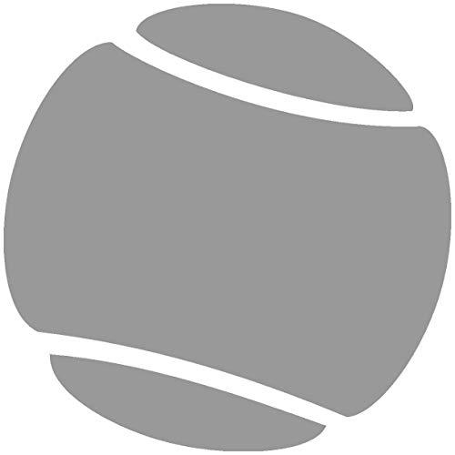 Samunshi® Autoaufkleber Tennisball Aufkleber in 7 Größen und 25 Farben (50x50cm grau)
