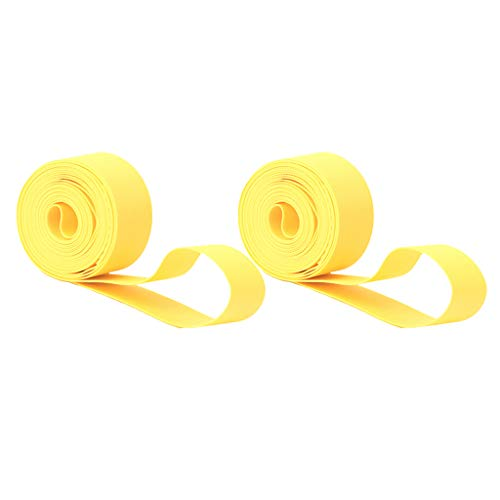 D DOLITY 1 Pair MTB Tire Liners Protection Belt Tyre Anti-Puncture Proof Protective Pad 18mm/20mm Width for 700c Road Bike 26'' 27.5'' 29'' Mountain Bicycle - Yellow, 29inch x 20mm