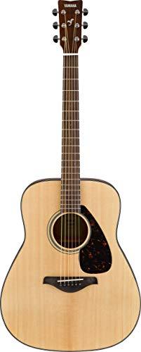 Yamaha FG800 Guitarra Acústica - Guitarra Western estándar con sonido auténtico y natural, para principiantes para adultos y jóvenes, guitarra de madera 4/4, color Marrón (Madera natural)
