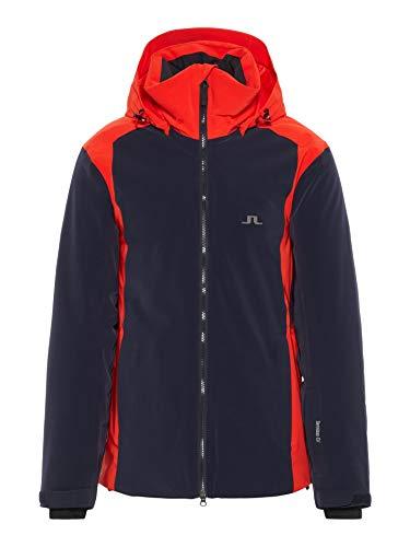J.Lindeberg M Douglas Jacket Blau-Rot, Herren Dermizax™ Regenjacke, Größe M - Farbe Racing Red