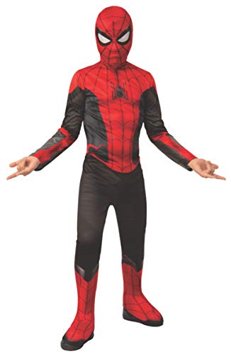 Rubie's Officieel Marvel Spider-Man-kostuum, Spider-Man - Far from Home, kinderkostuum Large - 8-10 years, height 147 cm, waist 82 cm zwart/rood