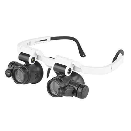 Lupenbrille Hände Frei Kopfband Lupen Lampe Stirnband Brille Lupen Lupe Für Hobby Elektriker Juweliere Uhrmacher Nähen Handwerk Kosmetik Und ältere Menschen 8X 15X 23X