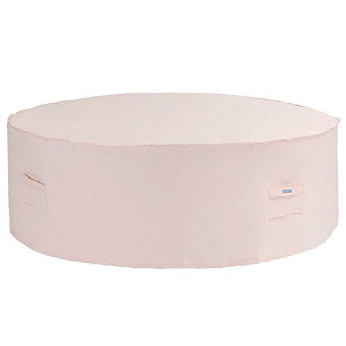 Patio Watcher Medium Round Patio Table and Chair Set Cover Durable and Waterproof Outdoor Furniture Cover, Beige