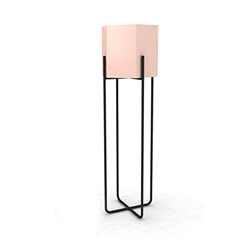 LWT ノルディック錬鉄製の金色の花のスタンドシンプルな床のリビングルーム三角形の花のポットのフレームコーナーの装飾緑の大根創造的な緑の植物 (色 : ピンク, サイズ さいず : L l)