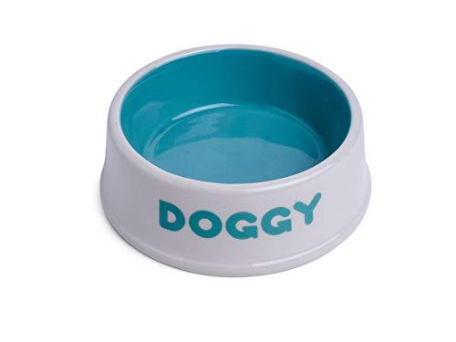 Petface Doggy Keramik-Futternapf, cremefarben / türkis
