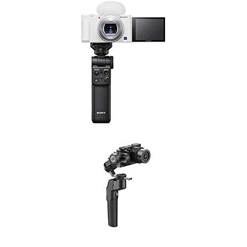 ソニー Video Blog用カメラ シューティンググリップキット VLOGCAM ZV-1GWC ホワイト+MOZA カメラ用ジンバル Mini-P スマートフォン アクションカメラ ミラーレスカメラ対応 折りたたみ式 20時間使用可能 三脚付属 MPG02 国内正規品