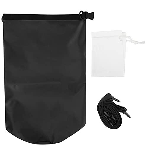 Bnineteenteam Bolsa de Almacenamiento de Saco seco Impermeable de PVC, Mochila al Aire Libre para canotaje en Kayak(Negro)