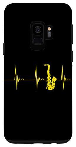 Galaxy S9 Saxophone Heartbeat Alto Sax EKG Pulseline Jazz Band Case