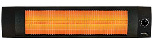 OPRANIC PRO - LAVA infrarood warmtestraler, 1500 watt, thermostaat, spatwaterdicht IPX4, infraroodstraler, parelzwart, infraroodstraler terras, hoogwaardige terrasverwarmer elektrisch