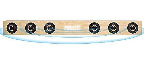 GaoF Barra de Sonido estéreo HI-FI de Madera de 30 W, Altavoz de TV inalámbrico con Bluetooth, Soporte RCA AUX HDMI, para televisión de Cine en casa,