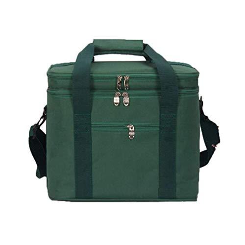 MiduoHu Bolsa de Preservación de Calor 17.8L, Bolsa de Almuerzo, Bolsa de Preservación de Calor Portátil, Picnic, Playa, Bolsa de Comida para Acampar (Color : Green)
