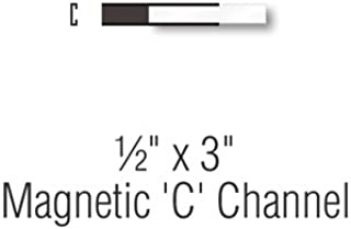 SmartSign Pack of 25 Magnetic 'C' Channel Label Holders | 0.5