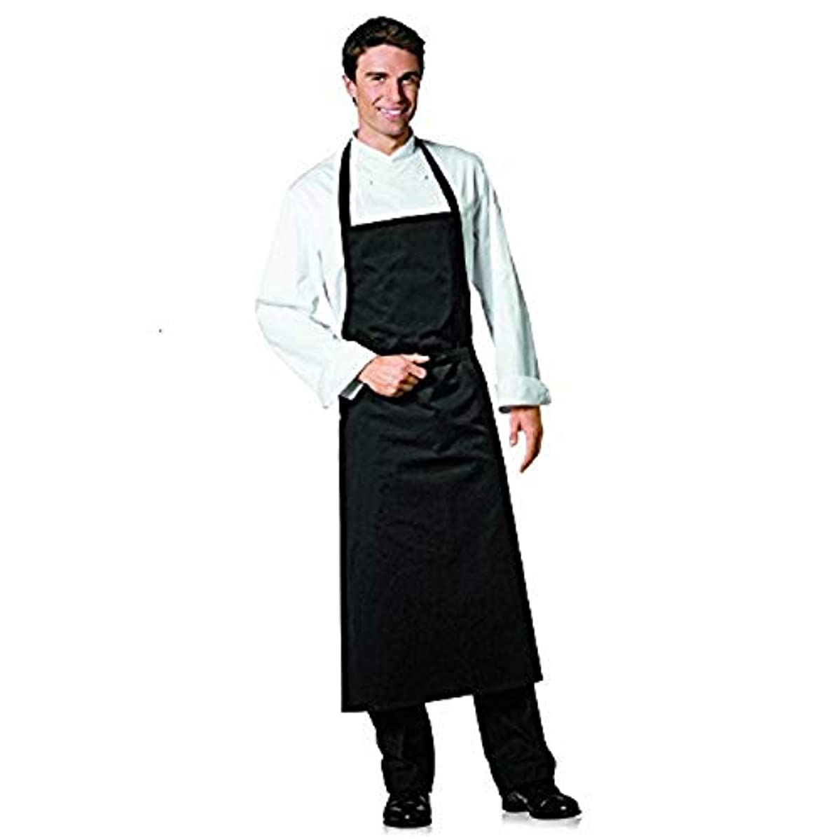 Bragard Professional Travel Bib Chef Apron Great for Any Kitchen Cotton - Black | One Size |