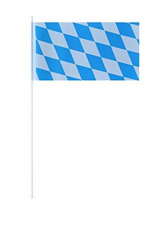 Flaggenfritze® Papierfahnen Deutschland Bayern ohne Wappen