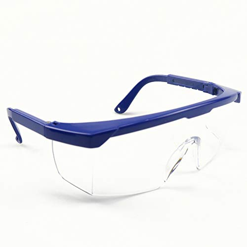 BHTOP Safety Glasses TR90 Protective Eye Wear, Scratch Wraparound Clear Lens Anti-Fog Goggles,UV Protection With Adjustment Frames Industrial Approved Wide-Vision For Work, Lab, Construction