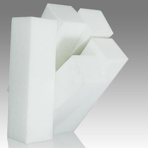 5 pcs nail art Tampon de polissage Bloc de ponçage fichiers Outil de manucure (Blanc) 9.5 * 2.5 * 2.5 cm