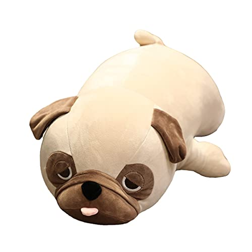 Hofun4U Giant Pug Plush Pillow, Pug Stuffed Animal Plush Toys, Soft Bulldog Plush Stuffed Anime Hugging Pillow, Xmas Birthday for Friends Kids Adults Girls Boys (33.6 inch)