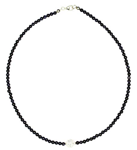 Blaufluss Schmuck (Halskette) Blaufluss Kette mit Bergkristall Kugel Verschluss 925er Sterling-Silber Modellnummer 6020