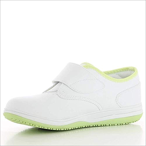 Oxypas Medilogic Emily Slip-resistant, Antistatic Nursing Shoe, White (Lgn), 8 UK (42 EU)