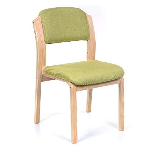 RXBFD chair Esstischstuhl aus nordischem Massivholz, gepolsterter Kaffeestuhl aus Baumwollleinen, ergonomisch geformte, Bequeme Rückenlehne, für Restaurant/Pub/Café/Wohnzimmer/Hotel/Balkon