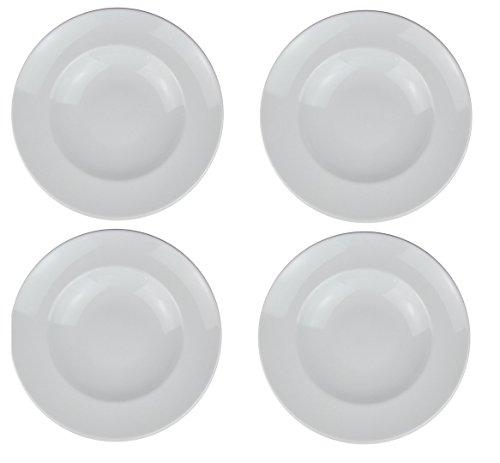 Retsch Arzberg Pastateller (Weiß) mit Pastalöffel im Set Pasta Teller XXL - Ø 30cm (4er Set)