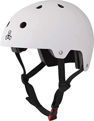 トリプルエイト(Triple Eight) ヘルメット スケートボード・自転車用 マットホワイト S/M