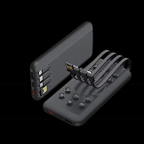 大容量パワーバンクポータブル携帯電話パワーバンク超薄型パワーバンクケーブル付き屋外ワイヤレス充電器