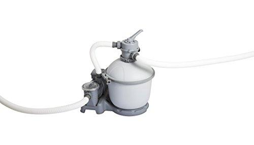 Bestway 58404 - Depuradora de arena (5.678 l/h) - Provista de mangueras compatibles y válvula de seis posiciones - Para piscinas de 1.100 a 42.300 litros