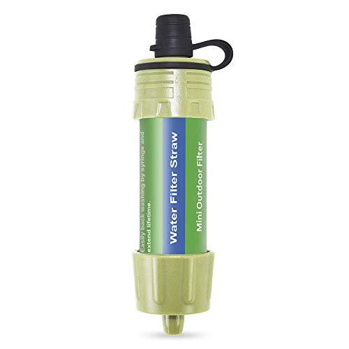 Benkeg-2 PCS Filtre À Eau en Plein Air Système De Filtration De l'eau De Paille Purificateur d'eau pour Protection Civile Camping Voyager Randonnée