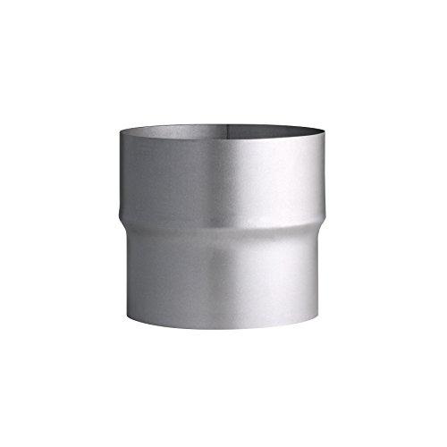 Kamino Flam Erweiterung silber, rostfreie Rohrerweiterung aus feueraluminiertem Stahl, geprüft nach Norm EN 1856-2, zum Anschluss von 110 mm in ein 120 mm Rohr