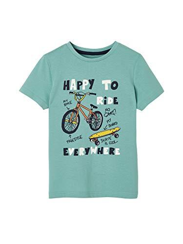 Vertbaudet Jungen Fahrrad-T-Shirt, kurzärmelig Gr. 6 Jahre, grün