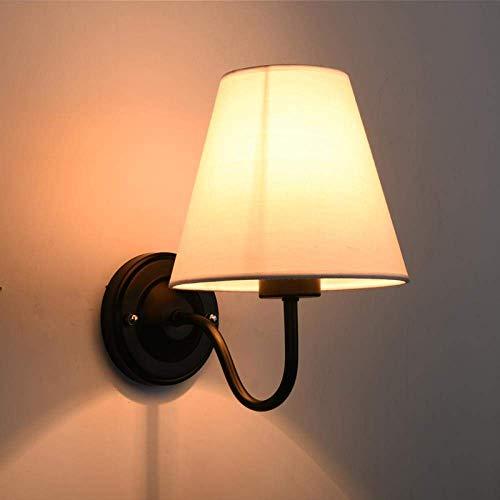 Wall linterna pared Proyector de pared Lámpara Led nórdico pared del dormitorio de la lámpara de noche Sala de estar Sofá simple habitación de los niños rural moderna con el interruptor de pared Lámpa