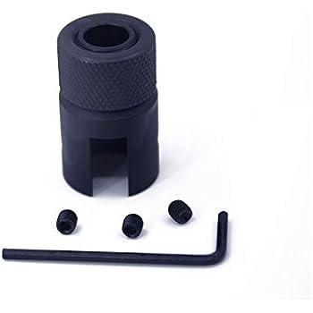 Barrel End Adaptateur filet/é 1 XFC-QIANG 2x28 for Ruger 10//22 Adaptateur de Filetage avec Knurled du Filetage Protecteur 1//2-28 Fil