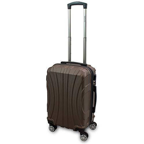 Trolley Hartschalen Koffer Hartschalenkoffer Hardcase Größe M - Modell Strike (Braun)